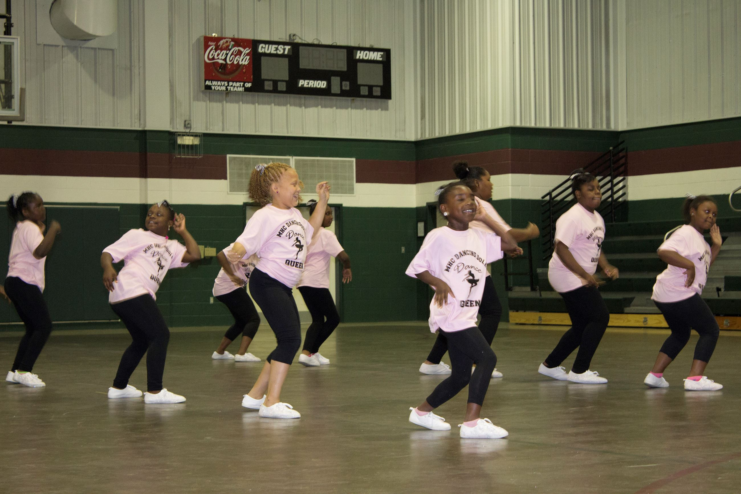 Image of girls dancing in a class.