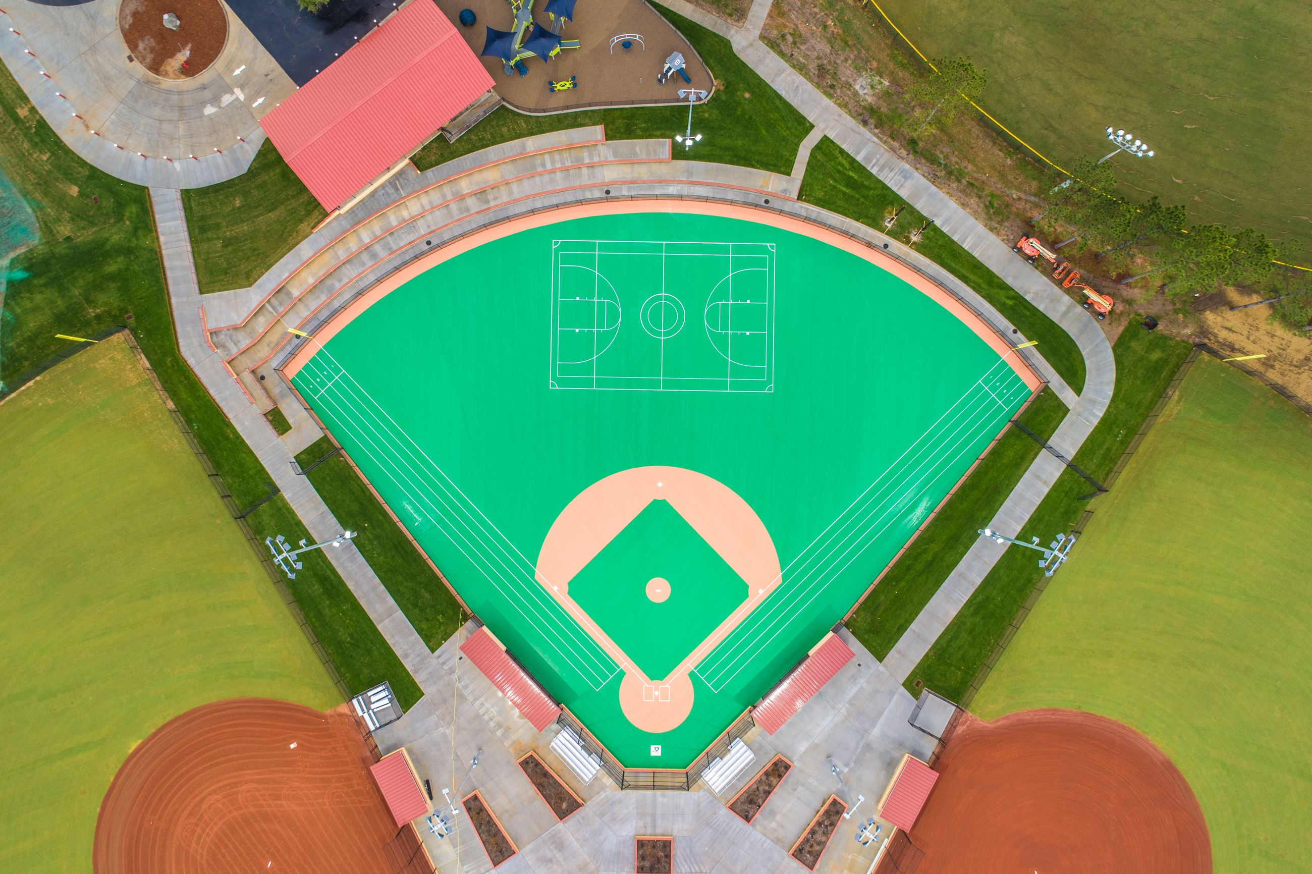Aerial image of the Miracle Field.